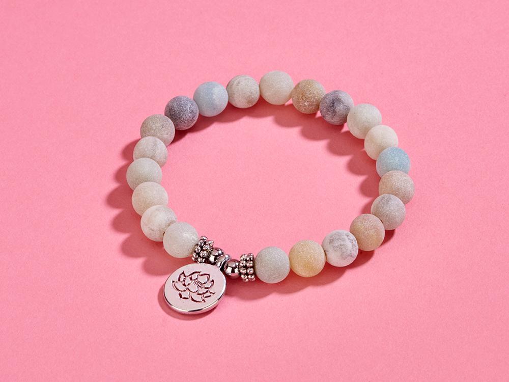 Mala/Armband Amazonit mit Lotus