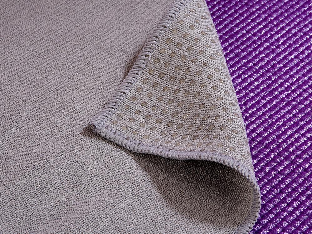 Yoga Handtuch rutschfest grau